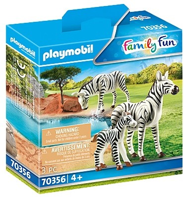 Playmobil Family Fun - 2 zebra's met baby 70356
