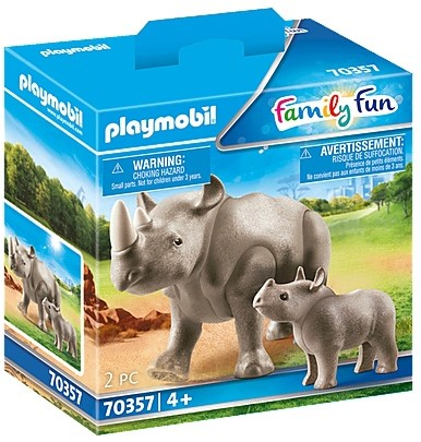 Playmobil Family Fun - Neushoorn met baby 70357