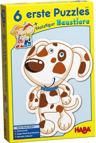 HABA 6 eerste puzzels - Huisdieren