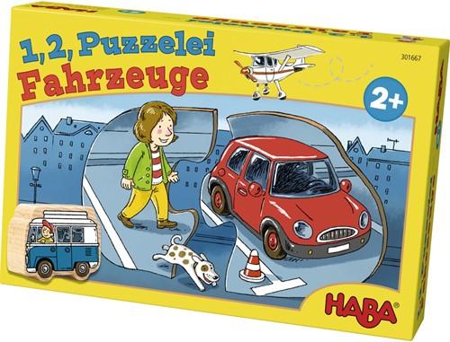 HABA 1,2 puzzel mee - Voertuigen