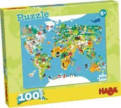 HABA Puzzel - Wereldkaart
