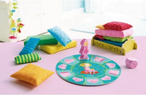 HABA Spel - De prinses op de erwt - Kussens stapelen-2
