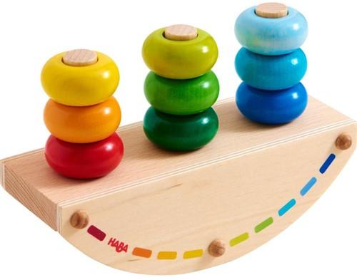 Haba stapelfiguur opsteekspel regenboog schommel