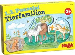 Haba legpuzzel 1,2, puzzel mee Dierenfamilies