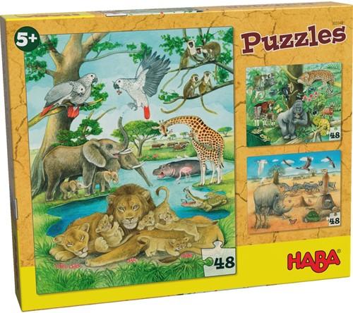 HABA Puzzels Wilde dieren in Afrika