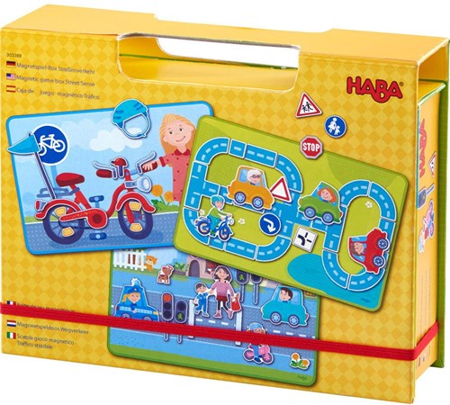 Haba Magneetspeldoos Wegverkeer: In het verkeer
