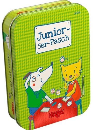HABA Spel - Junior Dobbel vijf (Duitse verpakking met Nederlandse handleiding)