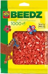 Ses  strijkkralen rood 1000 stuks