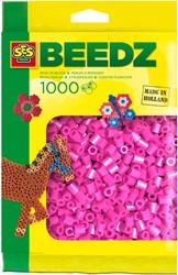 Ses  strijkkralen neon roze 1000 stuks