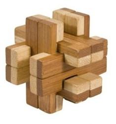 Planet Happy  houten puzzelspel IQ test 2 kleuren bamboe 5