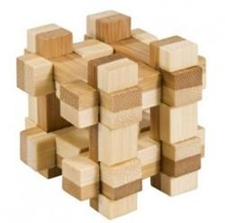 Fridolin houten puzzelspel IQ test 2 kleuren bamboe 3