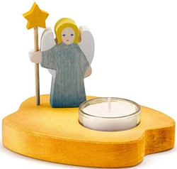 Ostheimer Candle Holder Angel blue new