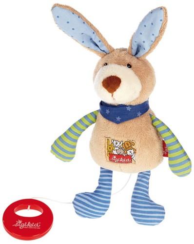 sigikid muziekknuffel konijn blauw 40356