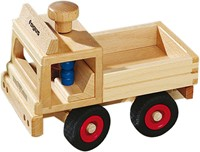 Fagus  houten speelvoertuig vrachtauto bestuurbaar 25cm