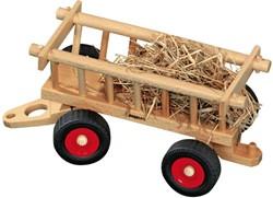 Fagus  houten speelvoertuig hooiwagen 29cm