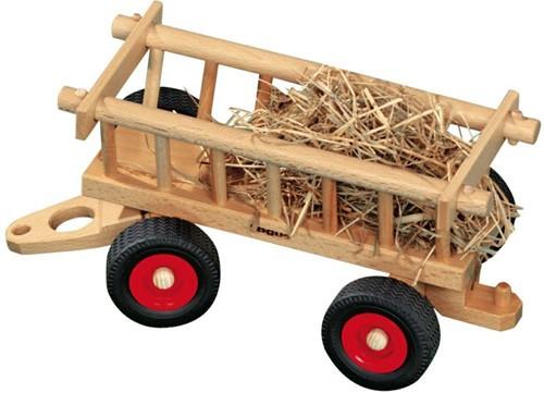 Fagus  houten speelvoertuig hooiwagen 29cm-1