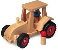 Fagus  houten speelvoertuig tractor met kap be 29cm-1