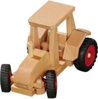 Fagus  houten speelvoertuig tractor met kap be 29cm-3