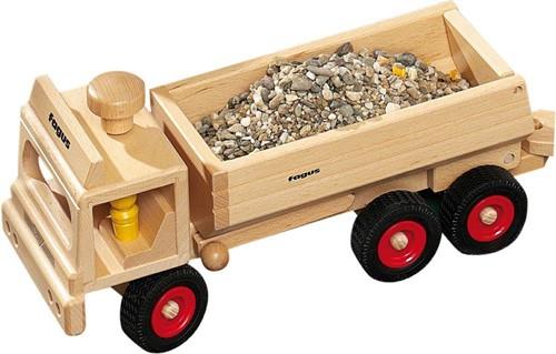 Fagus  houten speelvoertuig vrachtauto 40cm-3