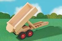 Fagus  houten speelvoertuig aanhanger kiepbaar 33cm-3