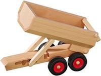 Fagus  houten speelvoertuig aanhanger kiepbaar 33cm-1
