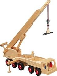 Fagus  houten speelvoertuig kraan met magneer 55cm