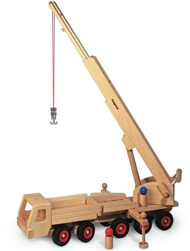 Fagus  houten speelvoertuig kraan 55cm-3