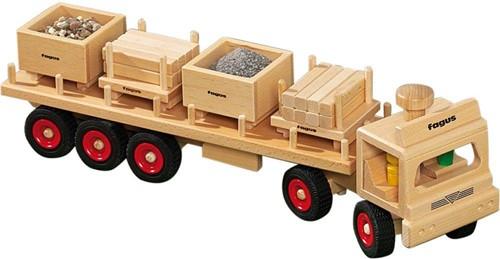Fagus  houten speelvoertuig oplegger 60cm-1