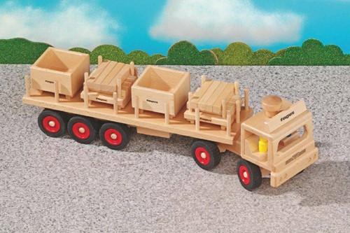 Fagus  houten speelvoertuig oplegger 60cm-2