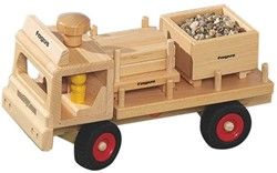 Fagus  houten speelvoertuig vrachtauto 33cm