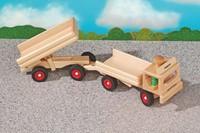 Fagus  houten speelvoertuig vrachtauto met open bak-2