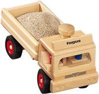 Fagus  houten speelvoertuig vrachtauto met open bak-3