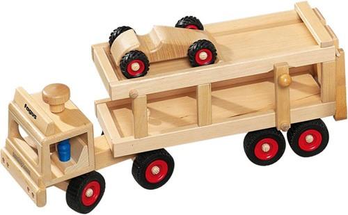 Fagus  houten voertuig Autotransport 40cm