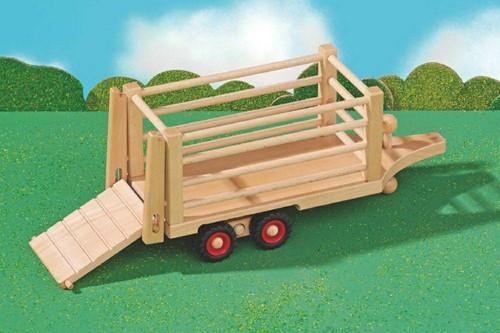 Fagus  houten speelvoertuig safari aanhanger-2