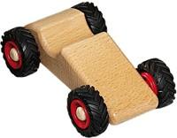 Fagus  houten speelvoertuig raceauto 14cm
