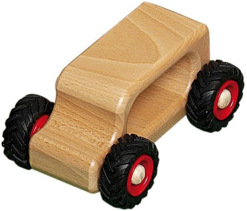 Fagus  houten speelvoertuig oldtimer 13cm