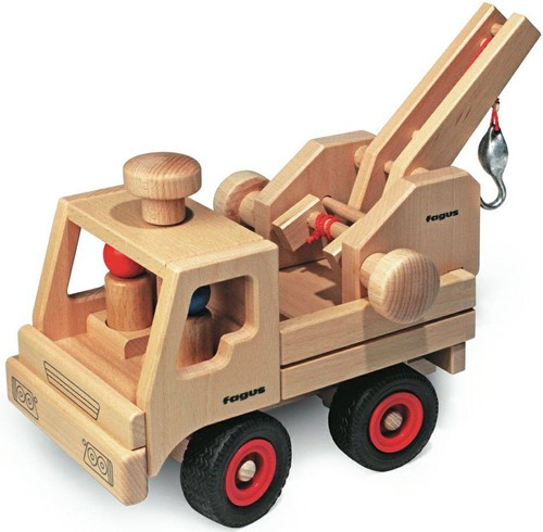 Fagus  houten speelvoertuig kraandeel-2