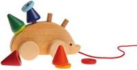 Grimm's houten trekfiguur egel -3