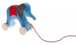 Grimm's houten trekdier olifant blauw
