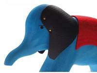 Grimm's houten trekdier olifant blauw-2