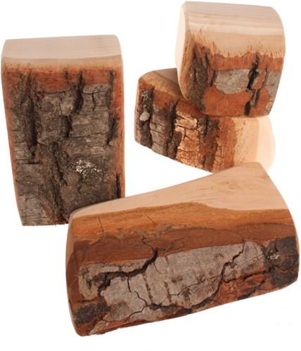 Grimm's houten blokken met schors 15 delig-2