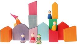 Grimm's houten blokken huisjes