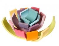 Grimm's 12 delige pastel  houten regenboog -3