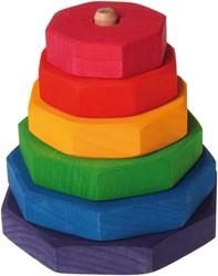 Grimm's houten stapeltoren achthoekig regenboog