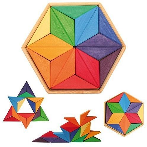 Grimm's houten puzzel kleuren ster -3