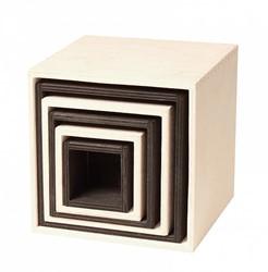 Grimm's monochrome houten stapelkisten