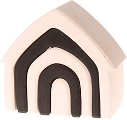 Grimm's houten huisje Monochrome