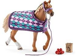 Schleich Paarden - Paardenverzorgster Met Shetland Pony 42362