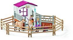 Schleich Paarden - Paardenbox Met Paarden En Verzorgster 42369