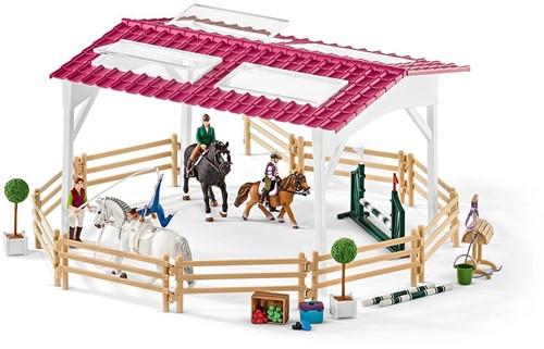 Schleich ruiterschool met ruiter en paarden 42389